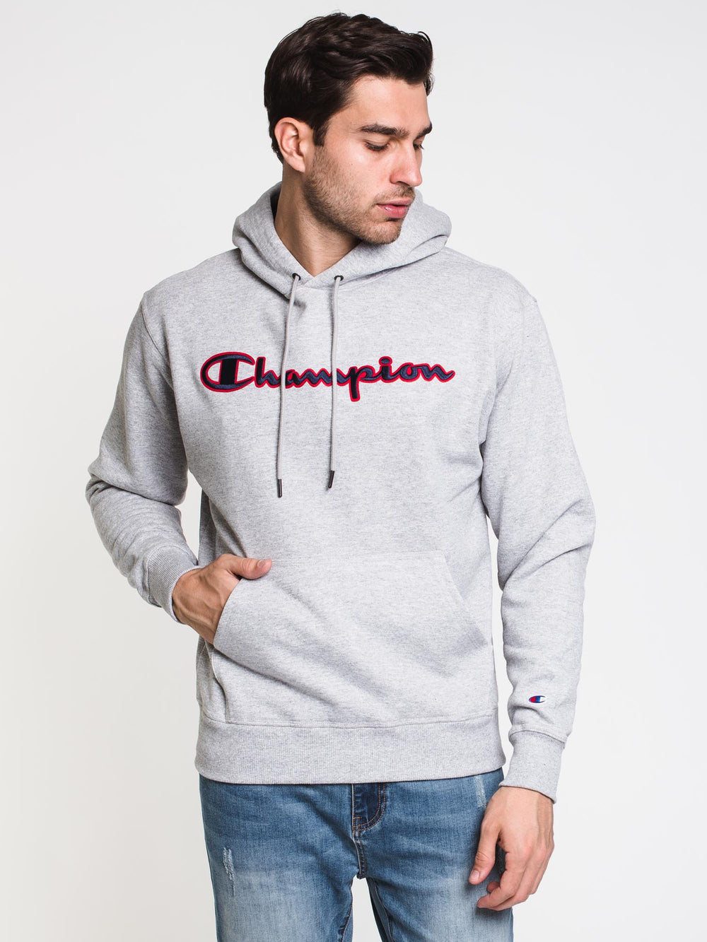MENS PB APPLQ PULL OVER HOODIE - OX GREY