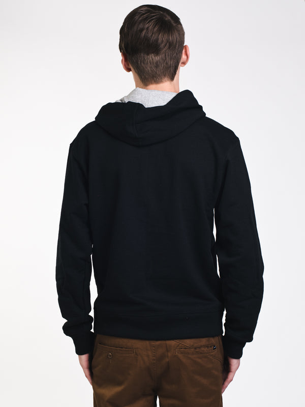 MENS GRAPHIC PWRBLND F/Z HOODIE- BLK