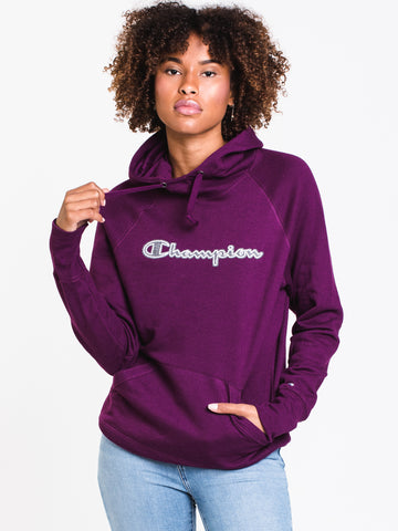 167d2199a WOMENS POWERBLEND APPLQ PULLOVER HD - PUR