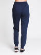 WOMENS SCRIPT FLEECE JOGGER - NAVY
