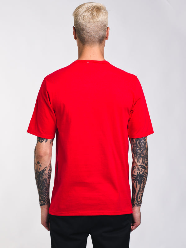 MENS HERITAGE C PATCH SHORT SLEEVE T-SHIRT - RED