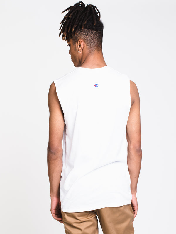MENS GRAPHIC MSCLE TANK - WHITE