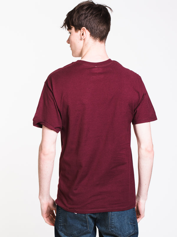 MENS GRAPHIC SHORT SLEEVE T-SHIRT - MAROON