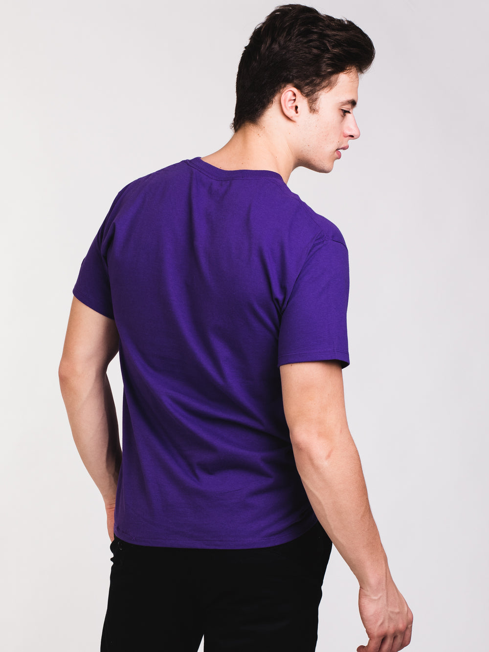 MENS GRAPHIC SHORT SLEEVE T-SHIRT - PURPLE