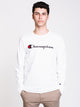 MENS HERITAGE CHEST LONG SLEEVE T-SHIRT - WHITE