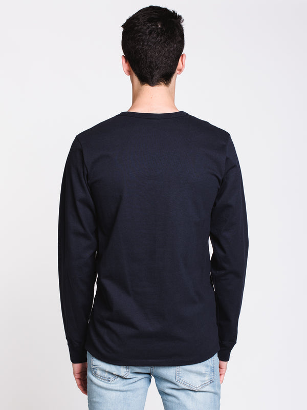 MENS HERITAGE CHEST LONG SLEEVE T-SHIRT - NAVY