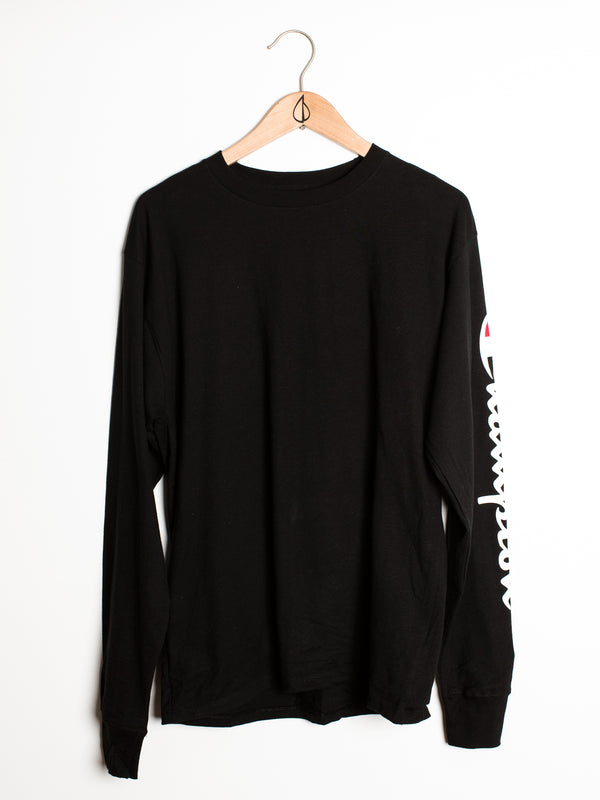 MENS CLASSIC SLV LONG SLEEVET-SHIRT- BLACK