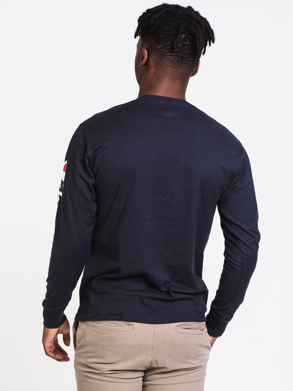 MENS CLASSIC SLV LONG SLEEVE T-SHIRT- NAVY
