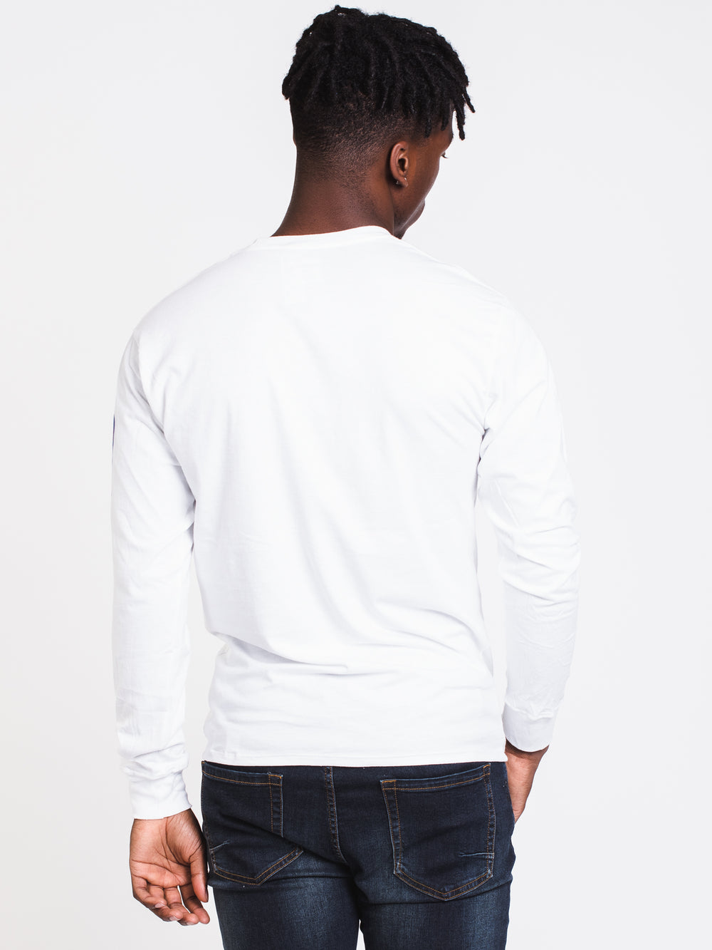 MENS CLASSIC SLV LONG SLEEVE T-SHIRT- WHITE