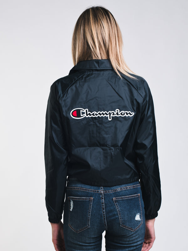 WOMENS CROP SCRIPT COACHES JACKET