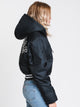 WOMENS FILLED FASHION JACKET - BLACK