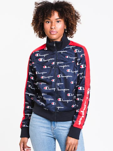 403fed03 WOMENS AOP TRICOT TRACK JACKET - NAVY