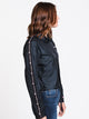 WOMENS CROP COACHES JACKET - BLACK
