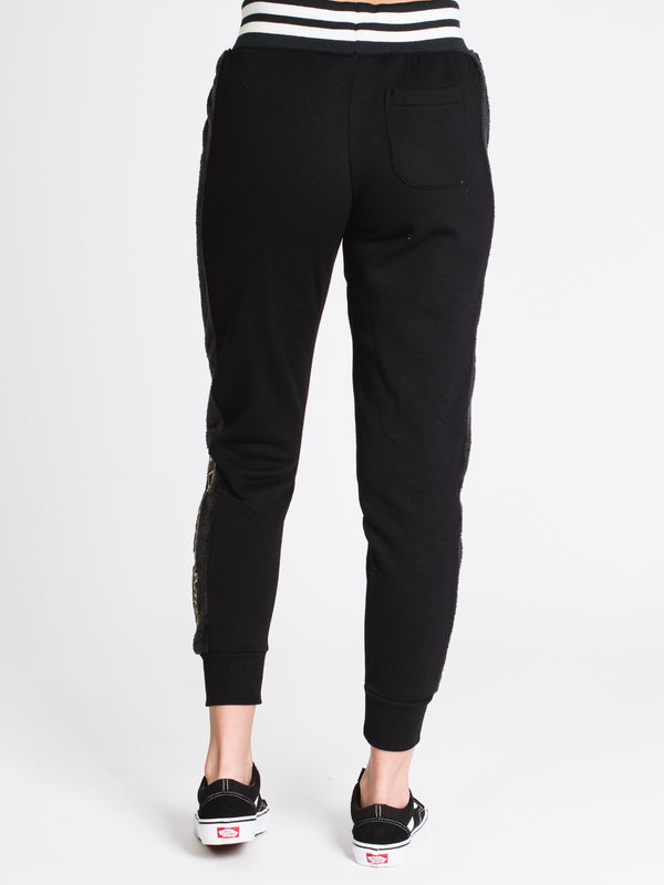 WOMENS SUPER FLEECE FUR JOGGER - BLACK