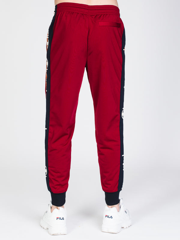 MENS TAPPED TRACK PANT - CHERRY