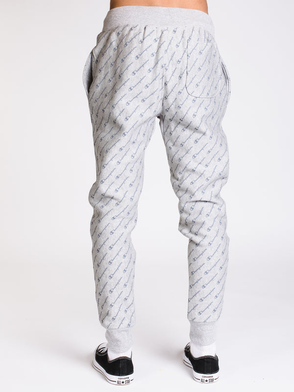 MENS REV WEAVE AOP JOGGER - GREY