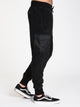 MENS FAUX FUR PANT - BLACK