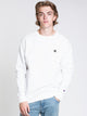 MENS COLOUR POP CREW - WHITE/BLACK