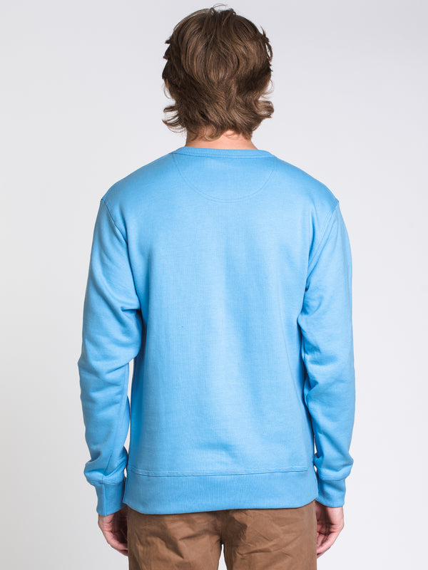 MENS COLOUR POP CREW - BLUE/WHITE
