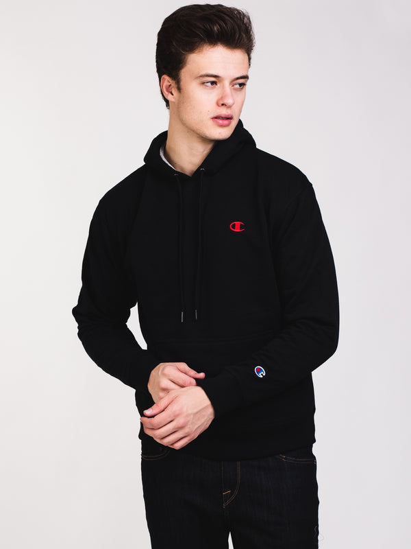 MENS COLOUR POP PULLOVER HOODIE- BLACK