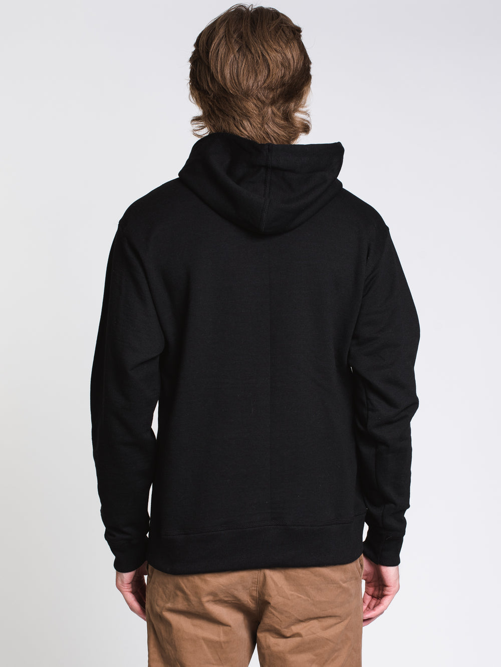 MENS COLOUR POP PULLOVER HOODIE - BLACK/RED