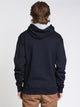 MENS COLOUR POP PULLOVER HOODIE - NAVY/GOLD