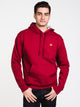 MENS COLOUR POP PULLOVER HOODIE - CHERRY/GLD