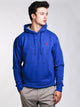MENS COLOUR POP PULL OVER HOODIE- BLUE