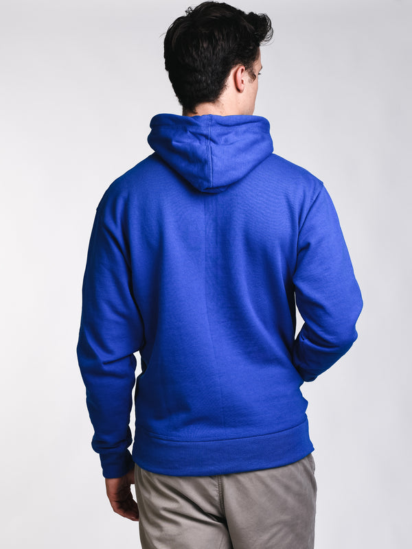 MENS COLOUR POP PULLOVER HOODIE- BLUE
