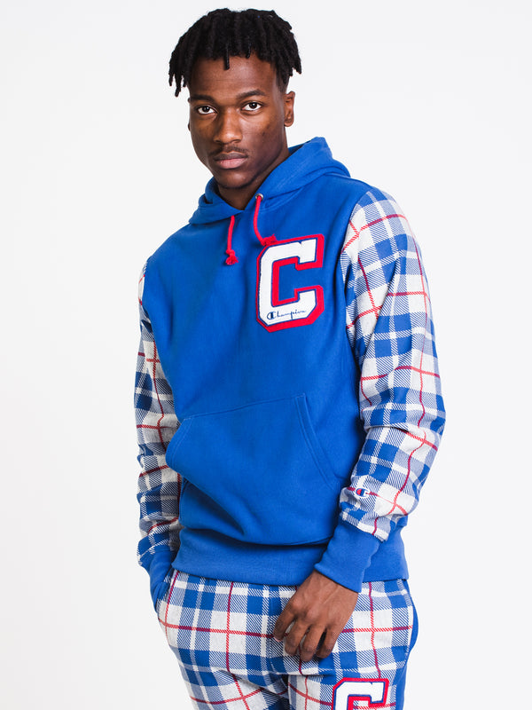 MENS REV WEAVE PLD PULLOVER HD - ROYAL