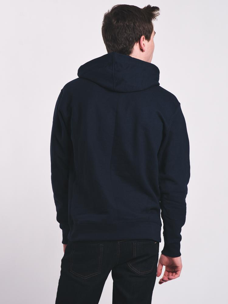 MENS POWERBLEND PULL OVER HOODIE - NAVY- CLEARANCE