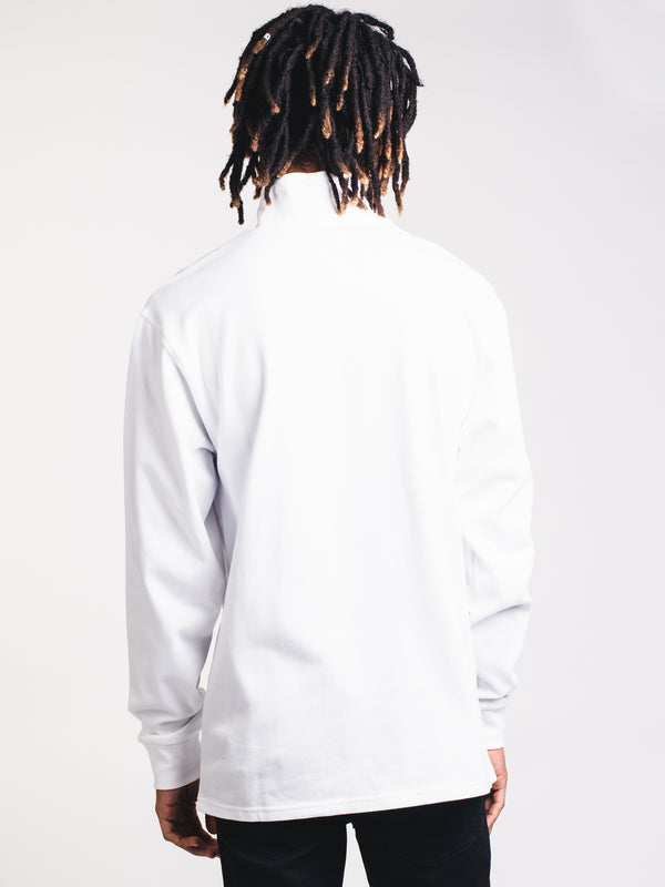 MENS MOCKNECK LONG SLEEVE - WHITE