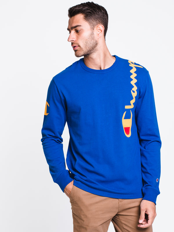 MENS H SHOULDER SCRIPT LONG SLEEVET-SHIRT- ROY