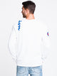 MENS H SHOULDER SCRIPT LONG SLEEVET-SHIRT- WHT