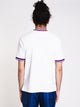 MENS TERRY SHORT SLEEVE T-SHIRT - WHITE