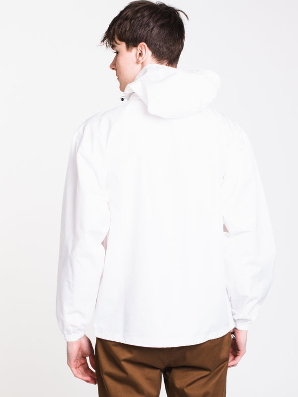 MENS PACKABLE ANORAK JACKET - WHITE