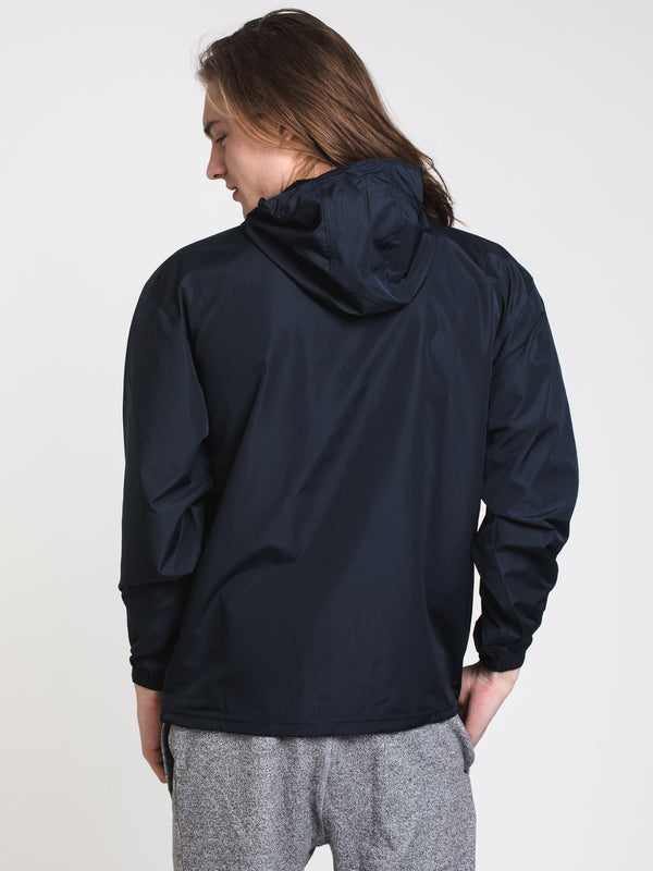 MENS PACKABLE LOGO JACKET - NAVY