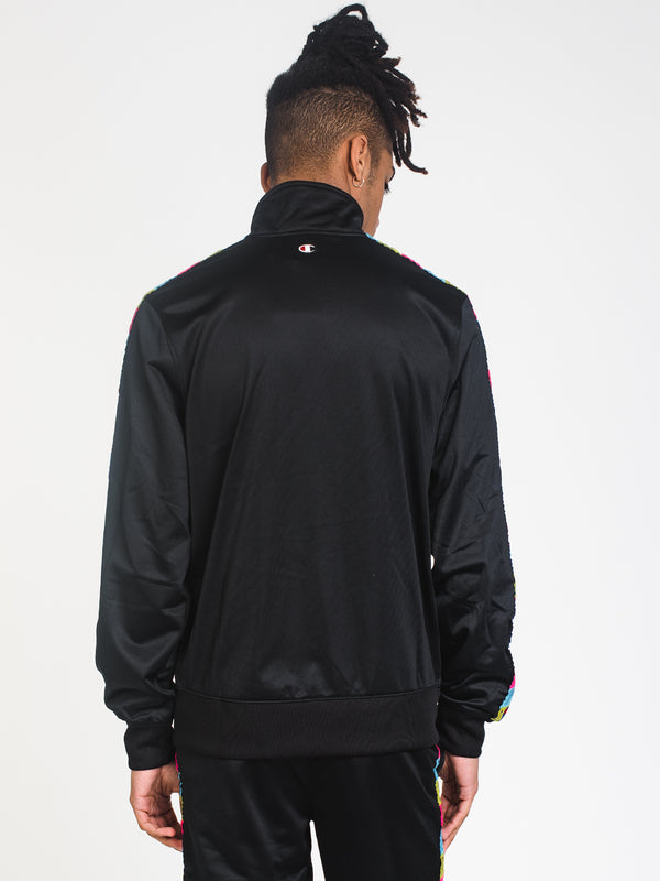 MENS TRICOT TAPING EMB TRK JACKET-BLK