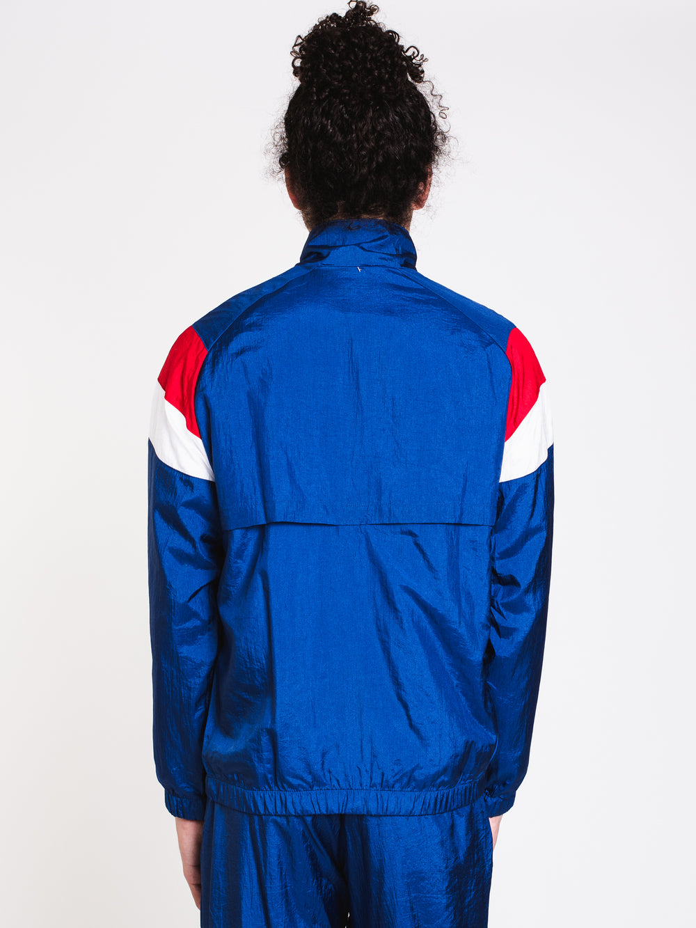 MENS NYLON WARMUP JACKET - ROYAL