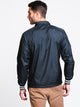 MENS SATIN COACHES JACKET - BLK
