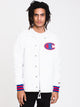 MENS SATIN COACHES JACKET - WHT
