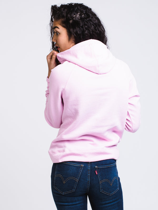 WOMENS APPLIQUE PULLOVER HOODY - ORCHID