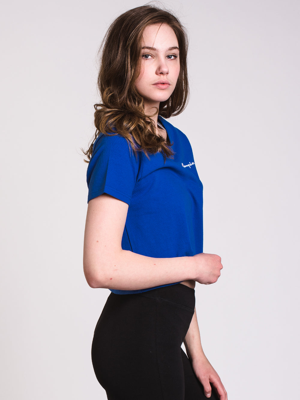 WOMENS CROPPED SHORT SLEEVE TEE - SURF THE WEB