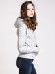 WOMENS REV WEAVE ALL OVER PRINT PULLOVER HOODIE - GREY