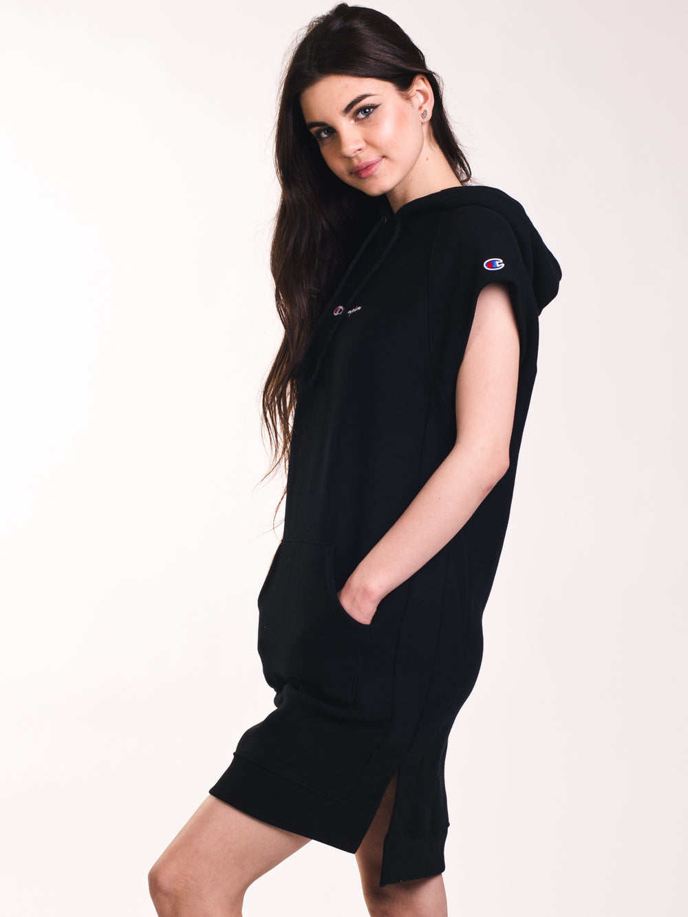 WOMENS REV WEAVE DRESS - BLACK- CLEARANCE