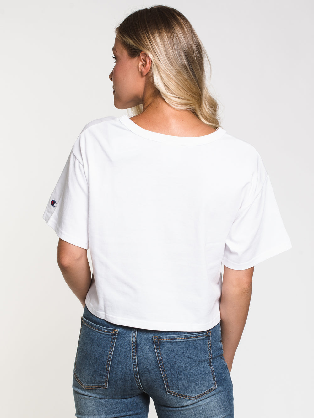 WOMENS HERITAGE CROPPED TEE - WHITE
