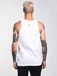 MENS PATRIOTIC C LOGO TANK - WHITE