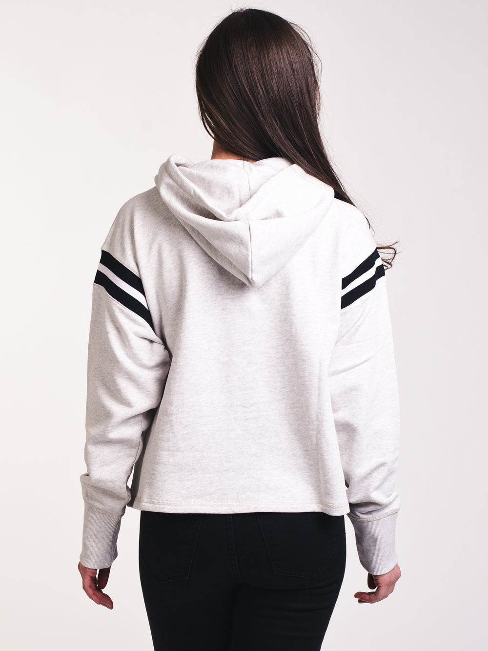 WOMENS RIBBED TRIM HOODIE- CLEARANCE