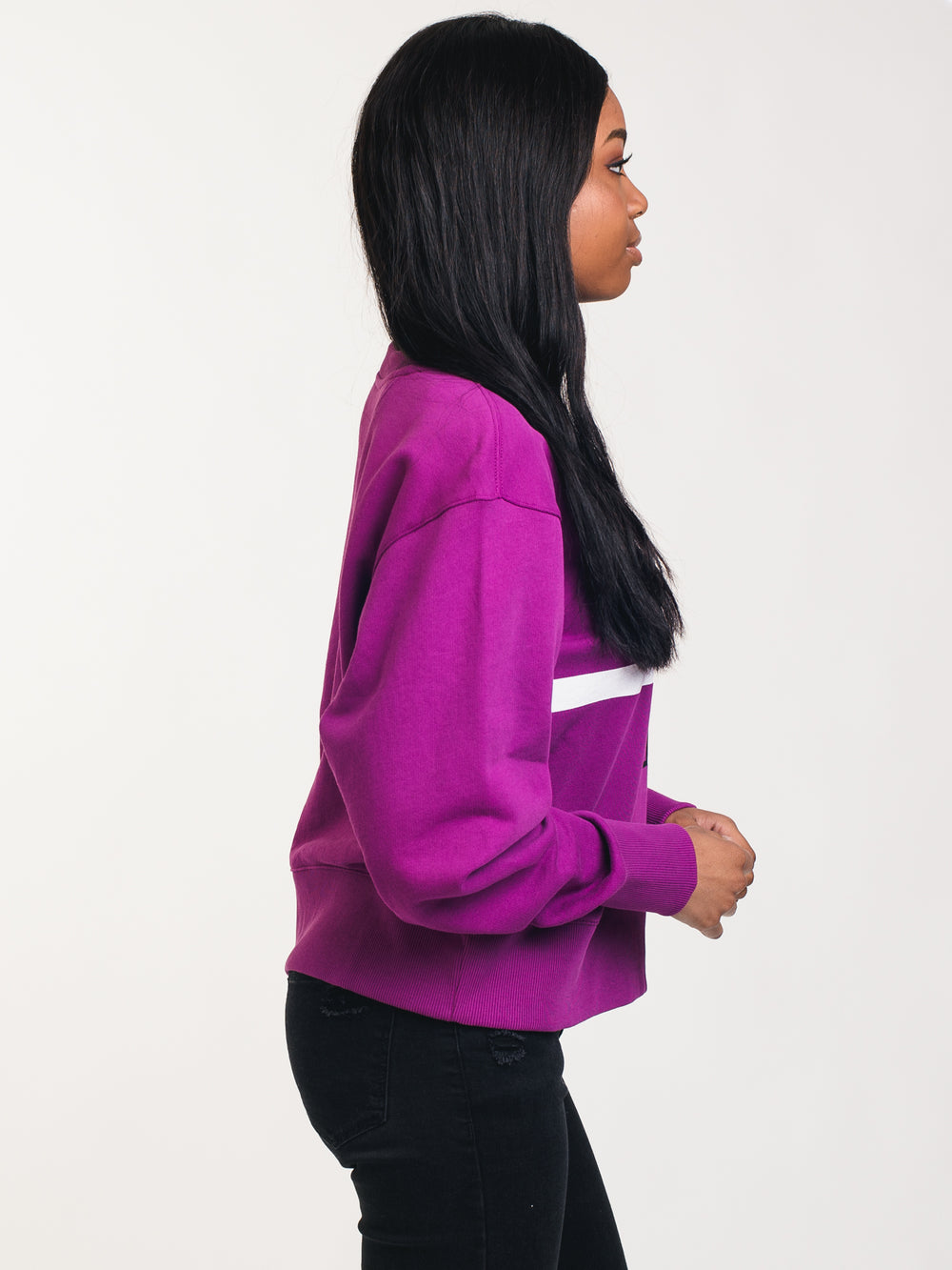 WOMENS MONOGRAM CREWNECK - PLUM
