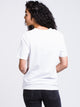 WOMENS COORDINATE SHORT SLEEVE T-SHIRT - WHITE